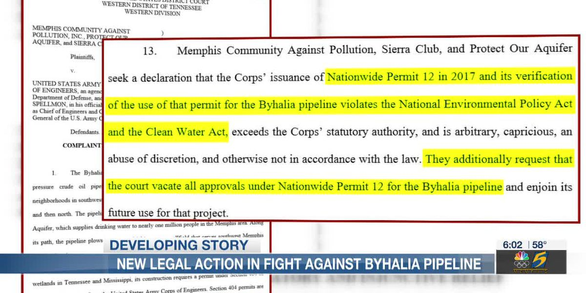 Organizations take legal action with hopes in stopping the Byhalia Pipeline