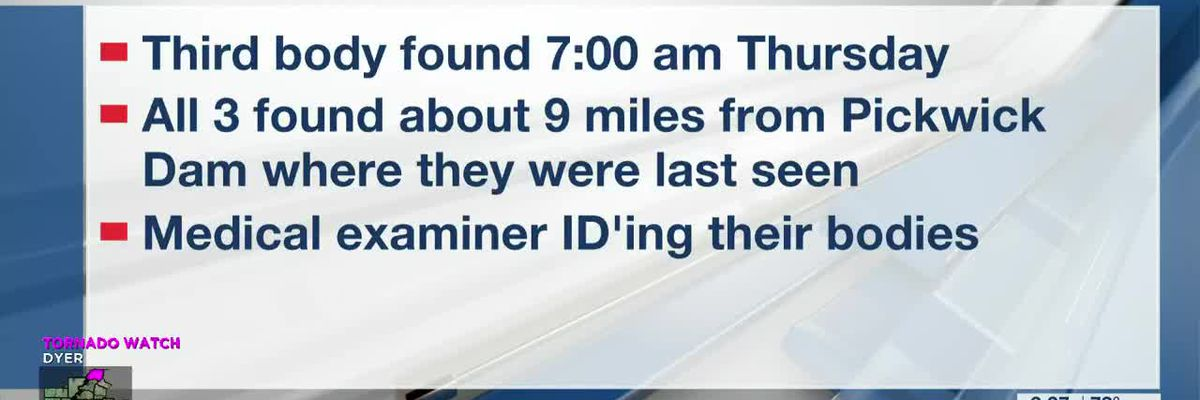 3rd body recovered in search for missing boaters on Tennessee River