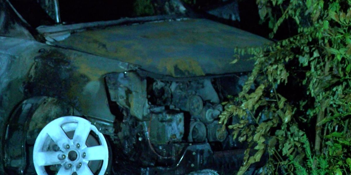 24 vehicles burned in auto shop arson