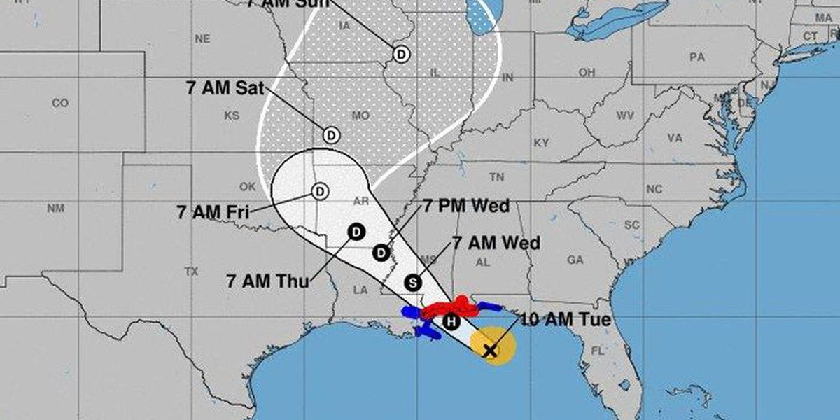 Tropical Storm Gordon approaches Gulf Coast