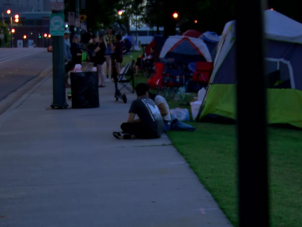 Twenty One Pilots fans camp outside FedExForum