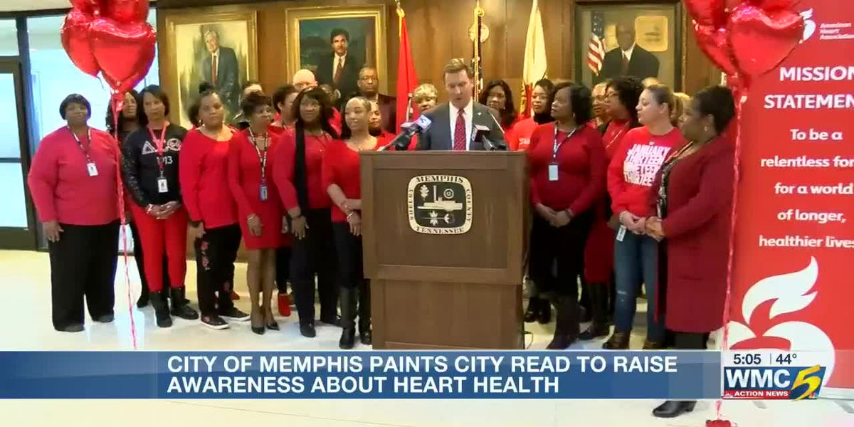 City of Memphis employees wear red in support of women's heart health