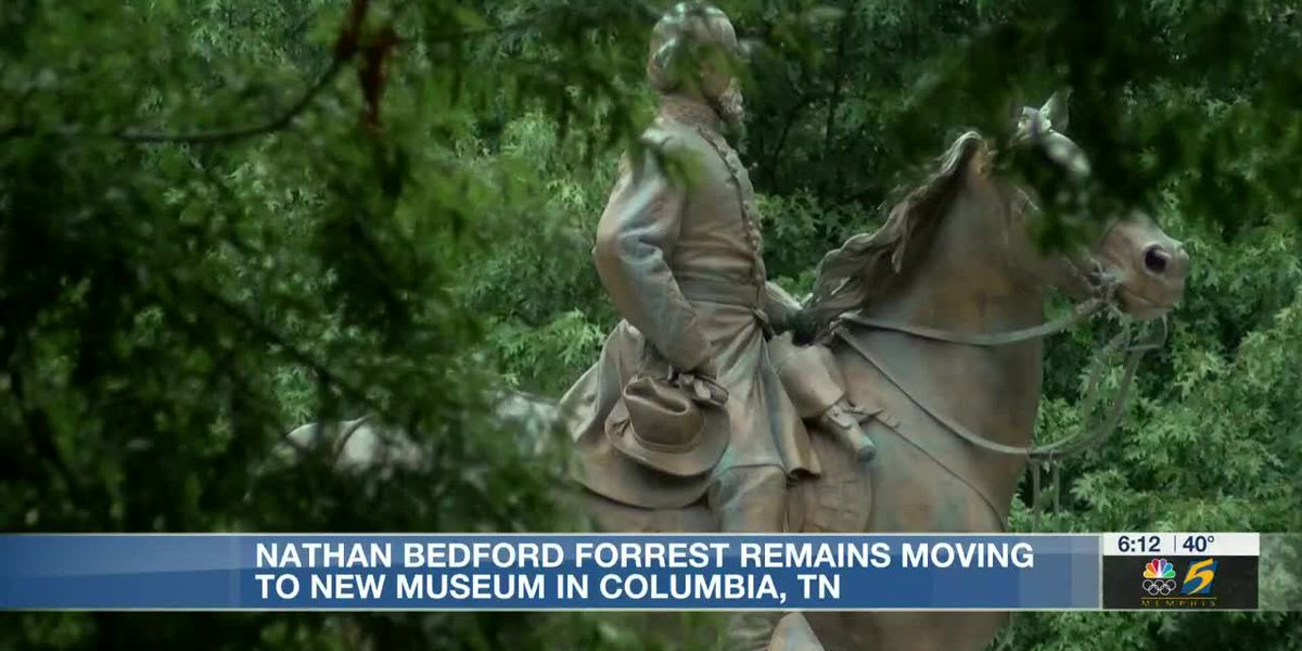 Nathan Bedford Forrest's remains being relocated from Health Sciences Park