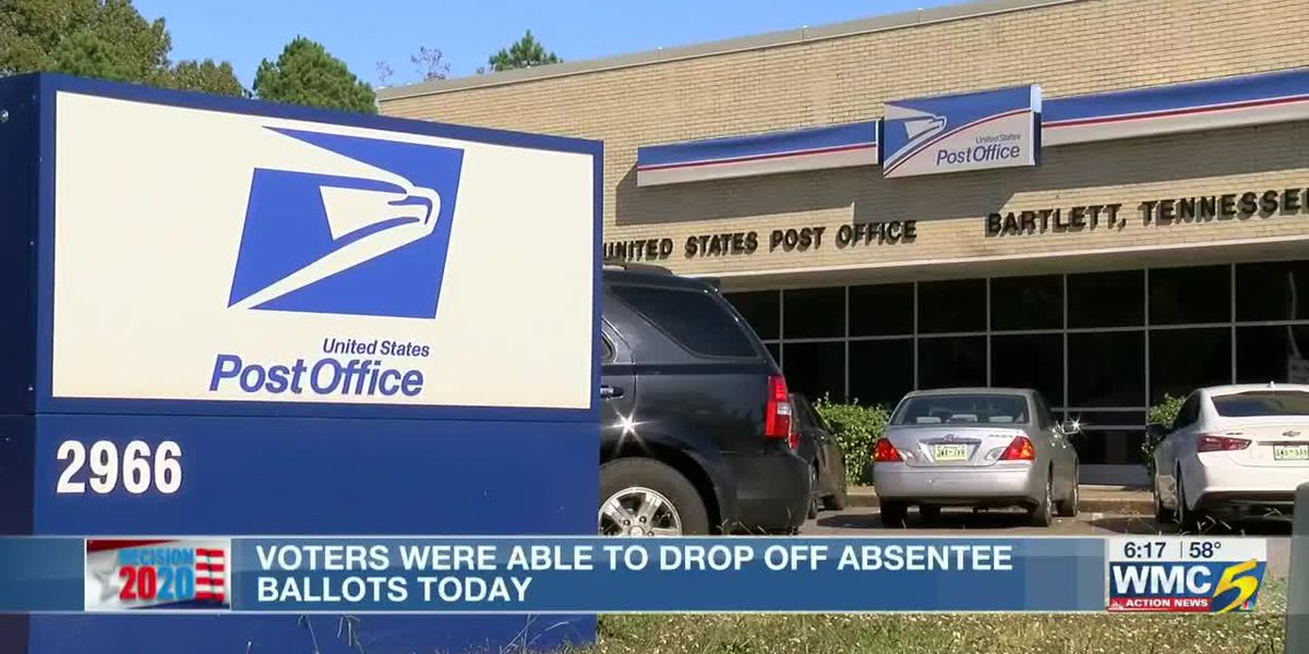 Voters were able to drop off absentee ballots today