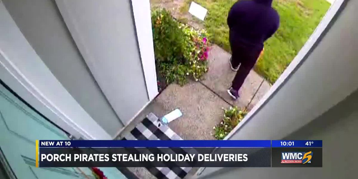 Porch pirates stealing holiday deliveries