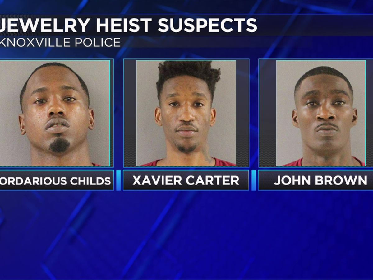 Memphis trio charged in Knoxville jewelry heists