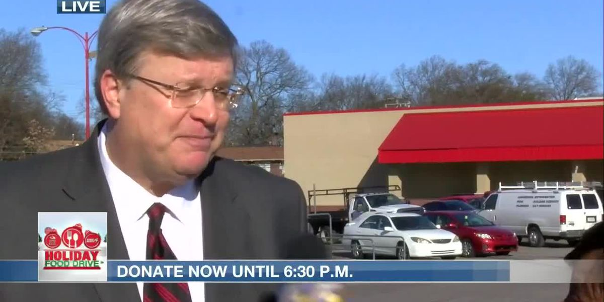 12th Annual WMC Action News 5 Holiday Food Drive joined by Mayor Jim Strickland