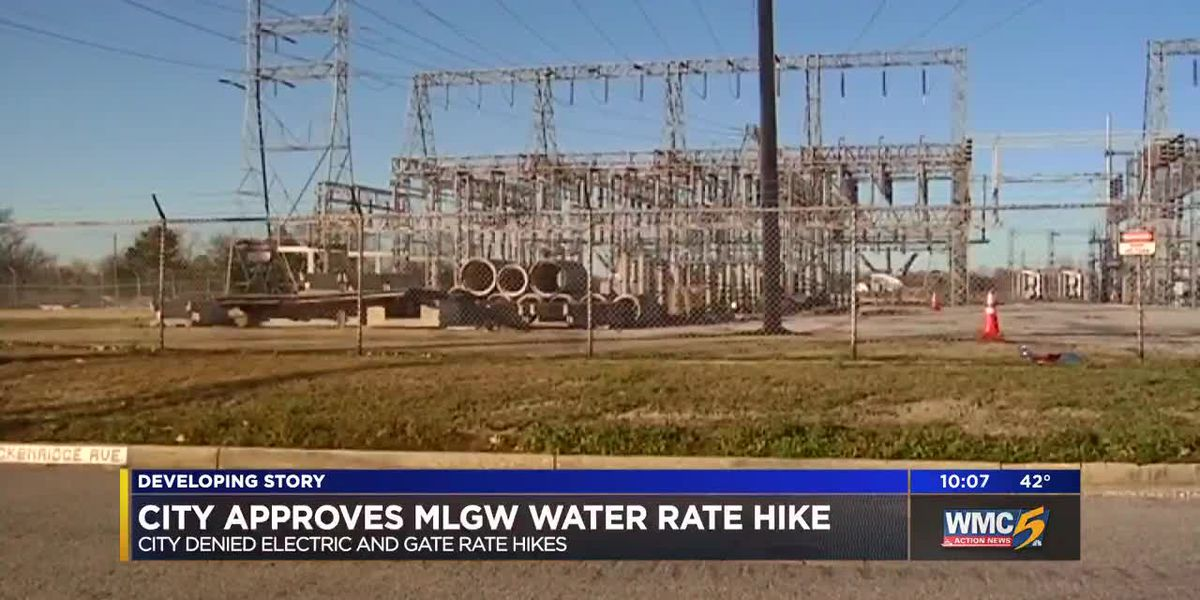 City council approves MLGW water rate hike, denies electric and gas hikes