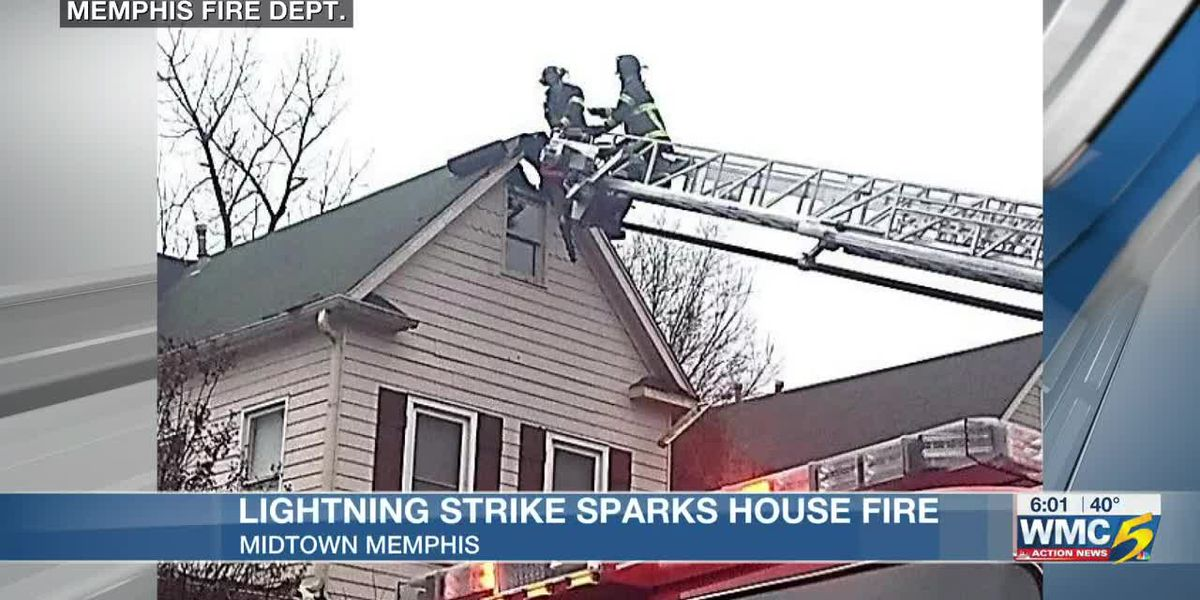 Memphis house fire blamed on lightning strike