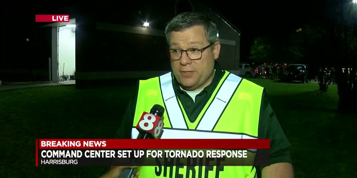 Poinsett Co. Kevin Molder with initial damage assessment and warnings to residents