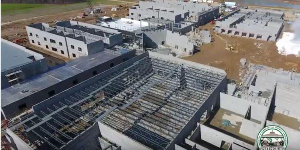Video shows Collierville High School construction progress