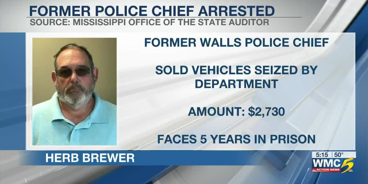 Former DeSoto Co. police chief arrested, accused of embezzlement