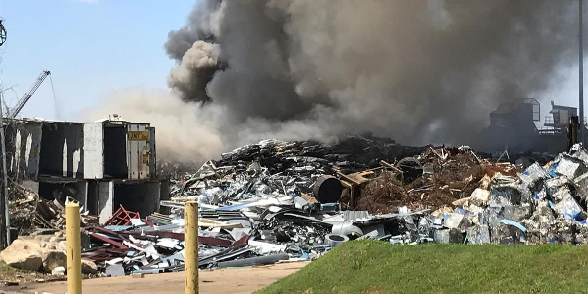 MFD battles garbage fire at recycling center
