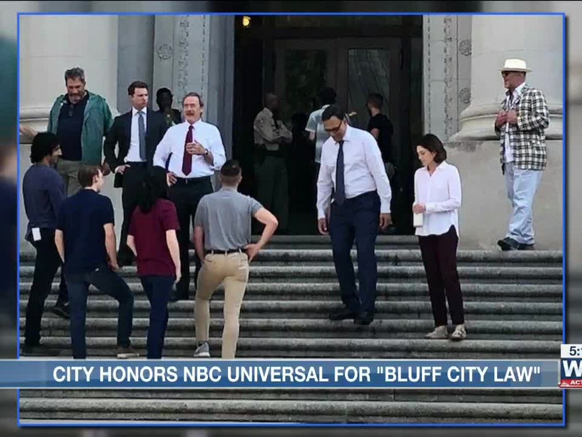 "NBC Universal honored by Memphis City Council for ""Bluff City Law"""
