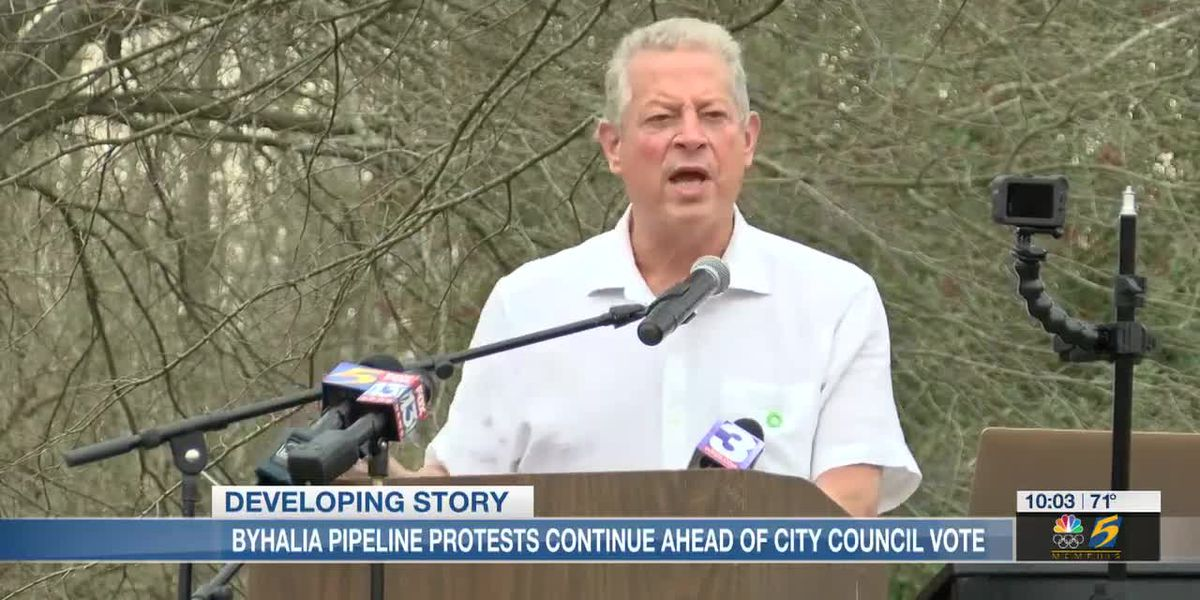 Former VP Al Gore joins Byhalia Pipeline protest in Memphis, calls it 'environmental racism'
