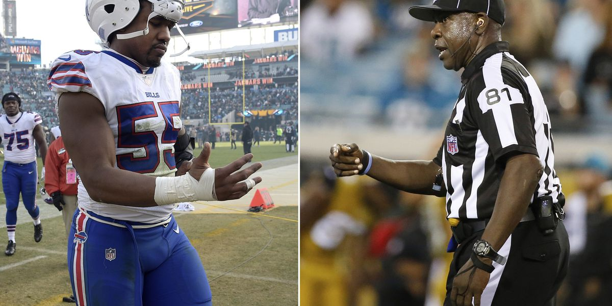 NFL refs back official accused of calling player vulgar name