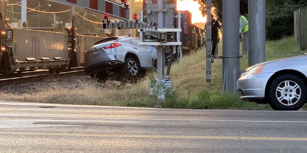 1 person critically injured in train-vehicle collision