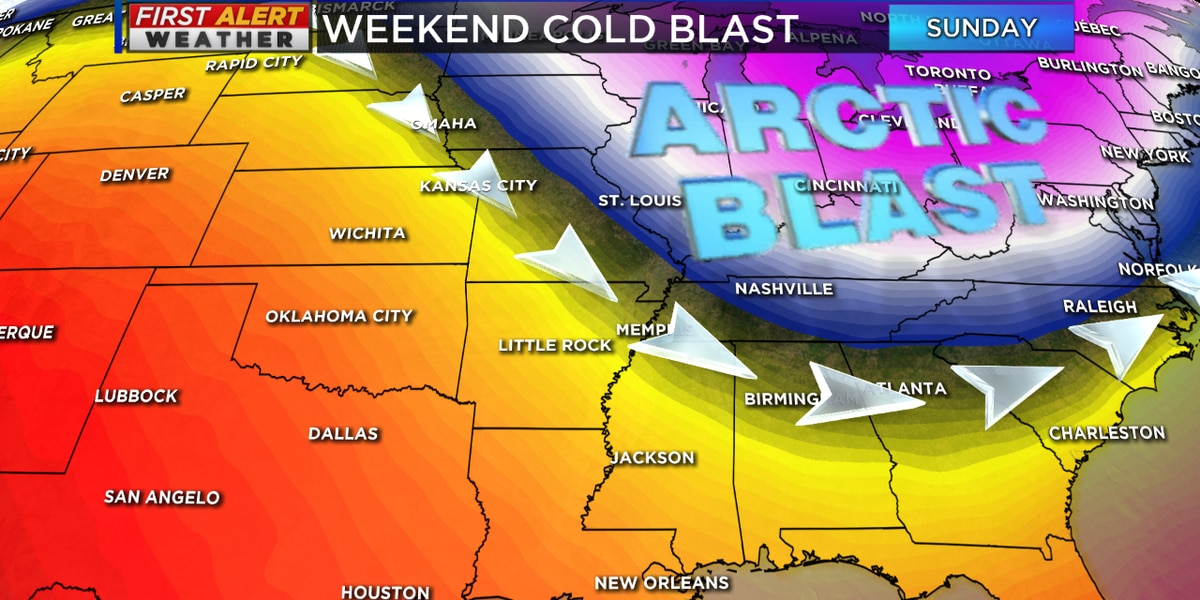 Arctic blast arrives in the Mid-South this weekend