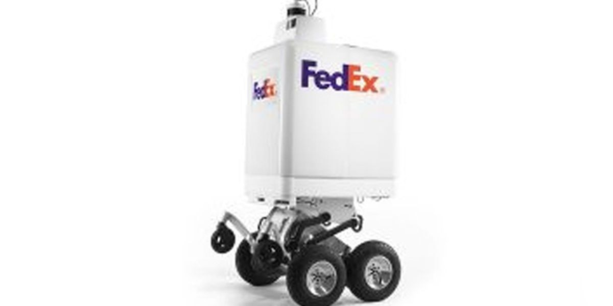 FedEx robot debuts at city council meeting