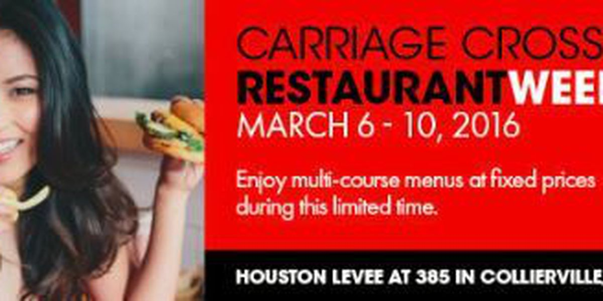 Carriage Crossing Restaurant Week: March 6-10