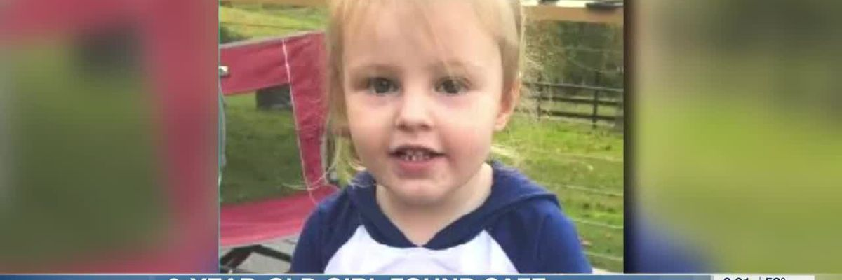 2-year-old girl found safe
