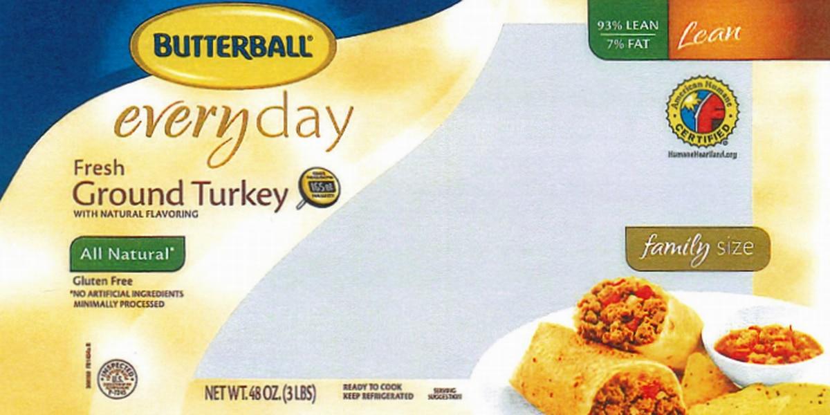 78,000 pounds of ground turkey recalled due to Salmonella Schwarzengrund concerns