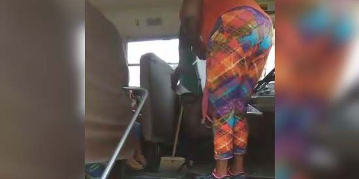 Bus driver pulls knife from student's bag