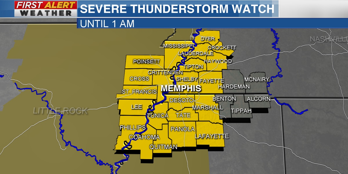 FIRST ALERT WEATHER DAY: Gusty winds and strong storms still possible for the Mid-South tonight