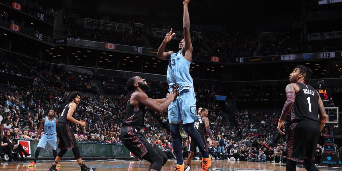 Grizzlies defeat Nets in double OT