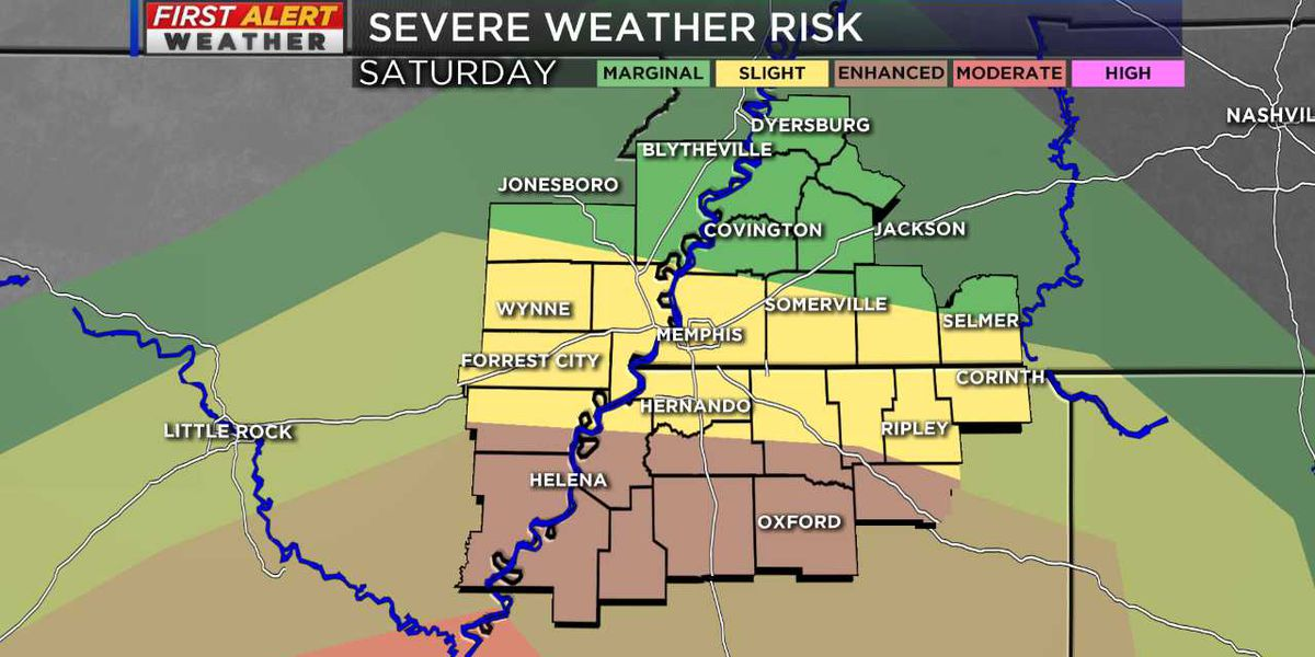 Tracking a threat of severe storms Saturday