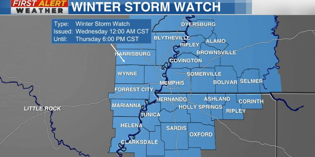 Another WINTER STORM WATCH issued as Mid-South awaits next storm
