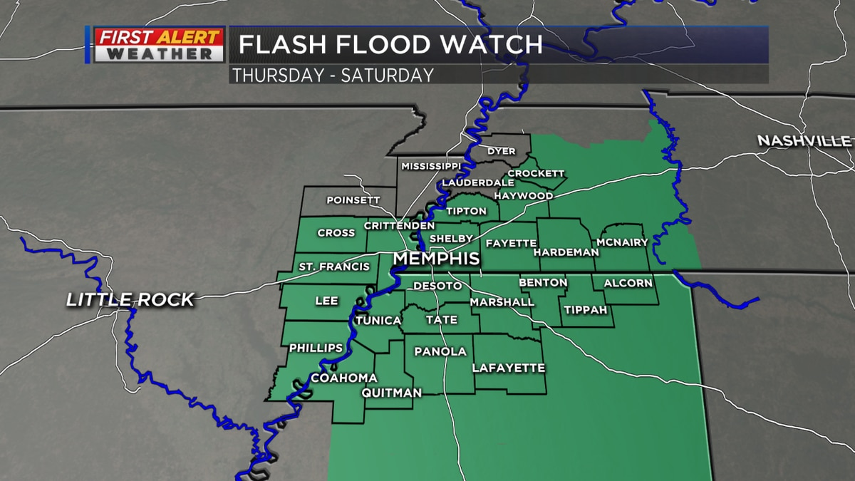 More rain and another FLASH FLOOD WATCH