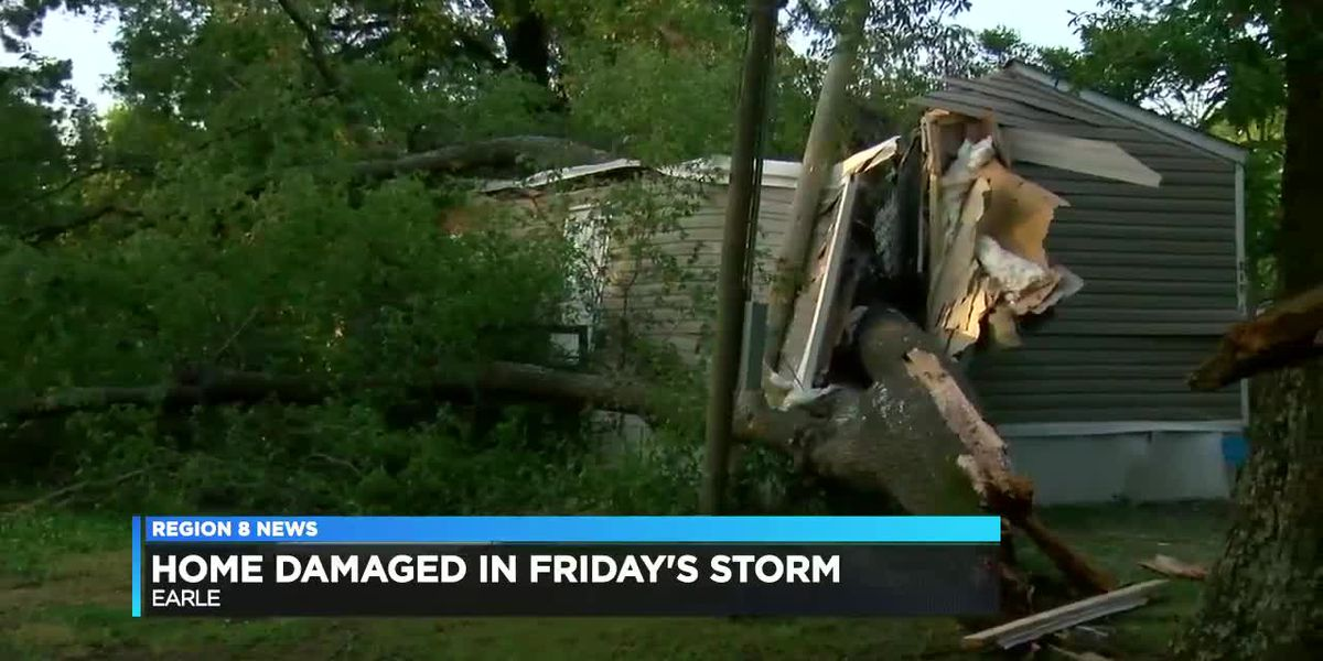 Earle woman home destroyed in wind storm