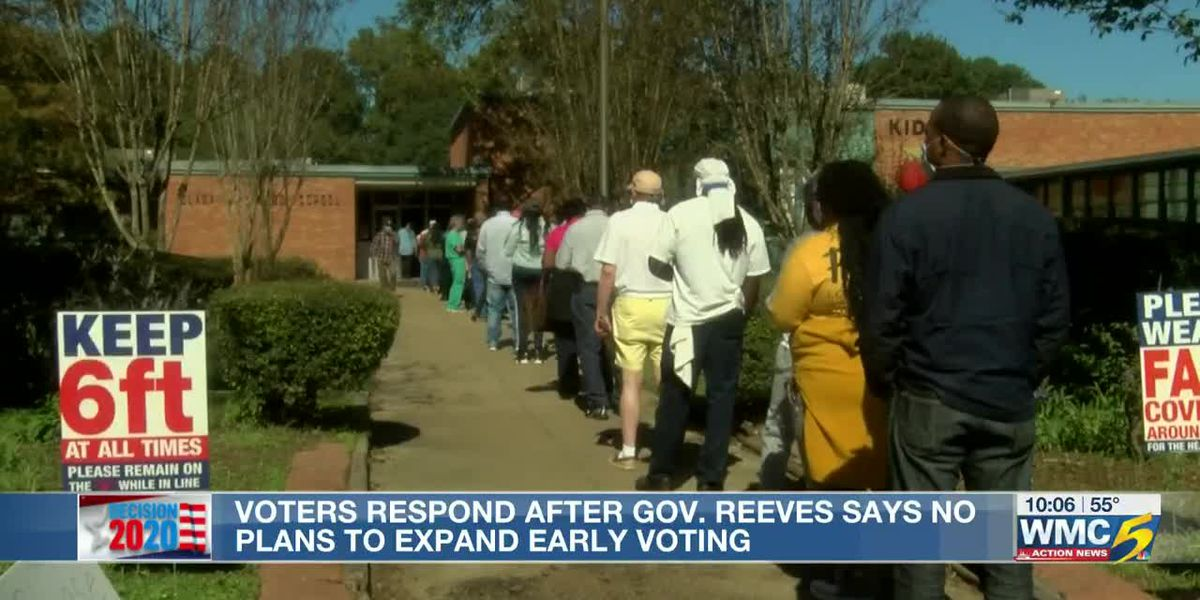 MS Gov. Tate Reeves announces he'll never support early voting in his state