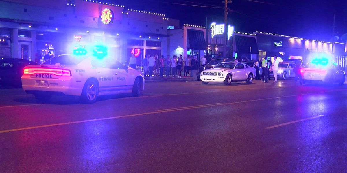 Person hit by car outside Highland Strip