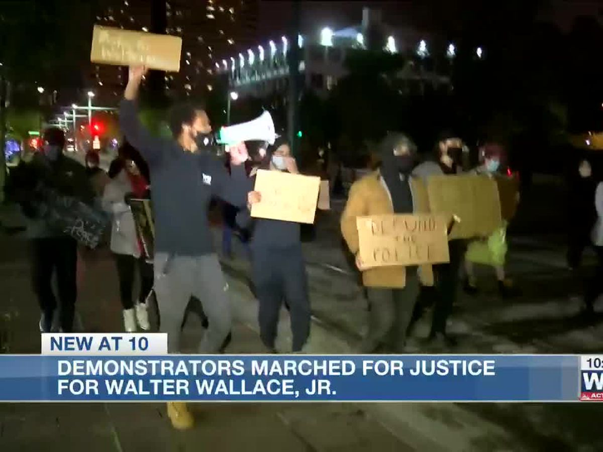 Protestors in Memphis gather Downtown for Walter Wallace march