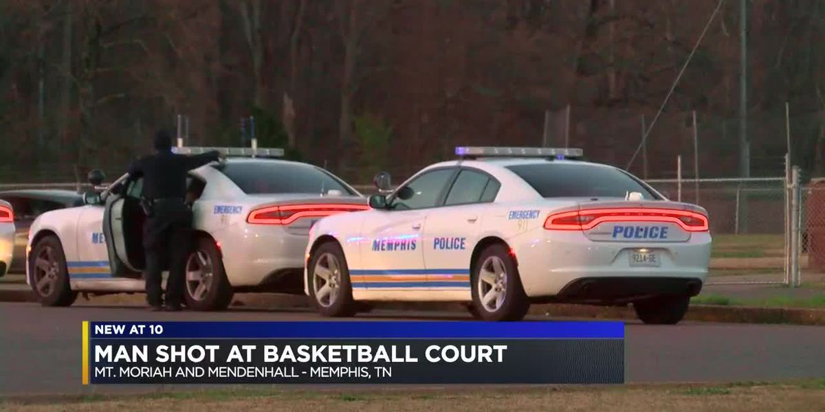 Man injured in shooting at basketball court behind police station