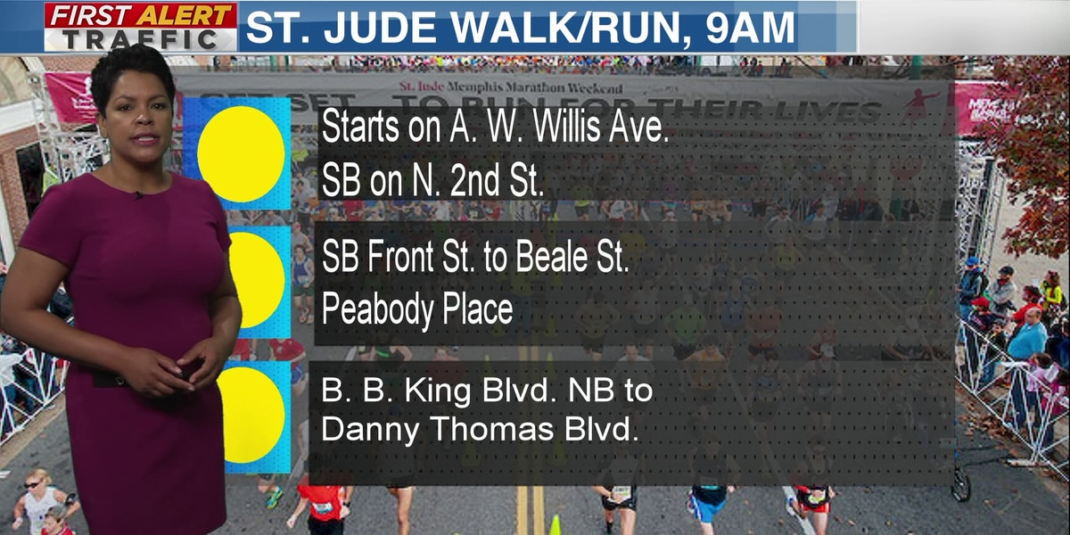 Traffic to be impacted by St. Jude Walk/Run
