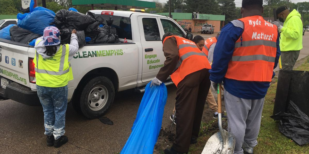 Volunteers gather to clean up North Memphis community