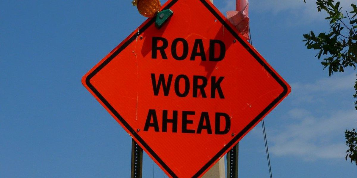 Roadwork may slow back to school shopping this weekend