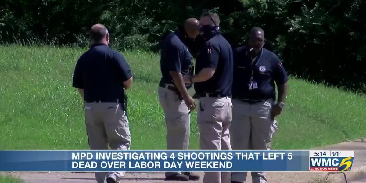 Memphis police investigating 5 murders from 4 different shootings over Labor Day weekend
