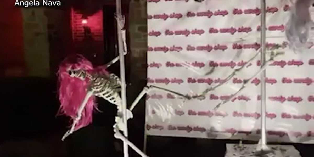 Pole-dancing skeletons deemed 'inappropriate' for Texas neighborhood