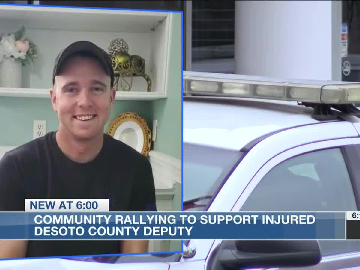 DeSoto County community raises thousands of dollars for deputy hit by suspected drunk driver