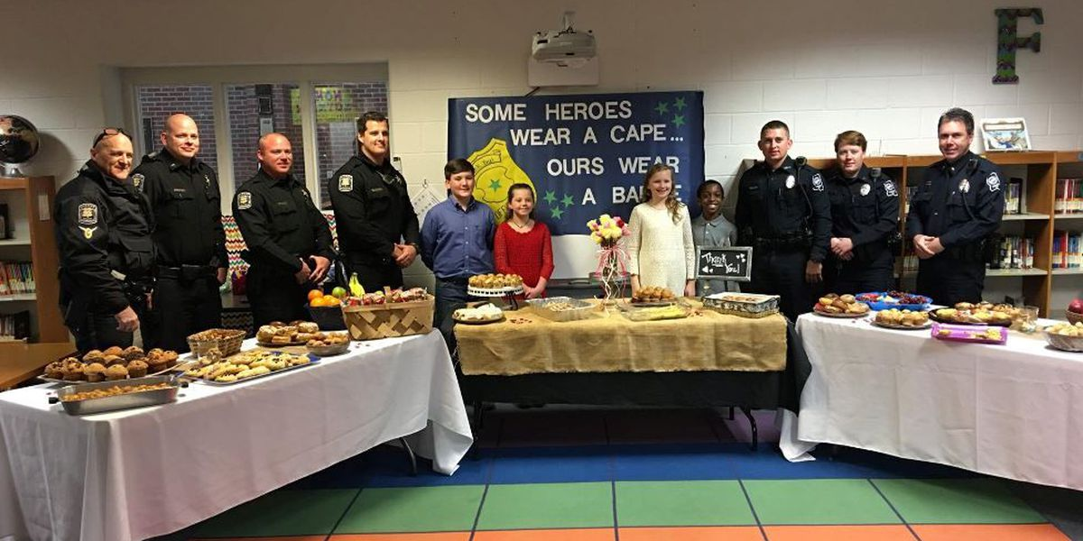 Students honor law enforcement with breakfast