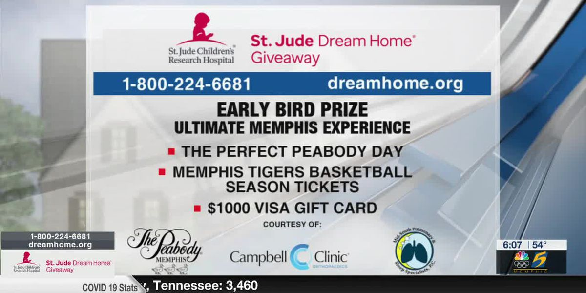 Reserve your St. Jude Dream Home ticket today for a chance to win an early bird prize!