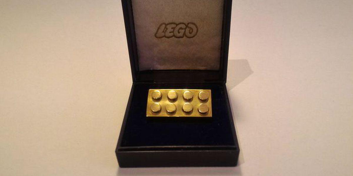 Rare 14 karat gold LEGO brick sells for over $19K