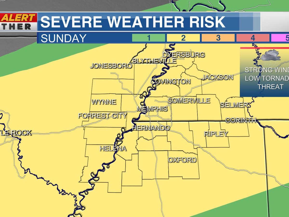 SEVERE WEATHER WATCHES issued for the Mid-South, Mississippi until 10 PM