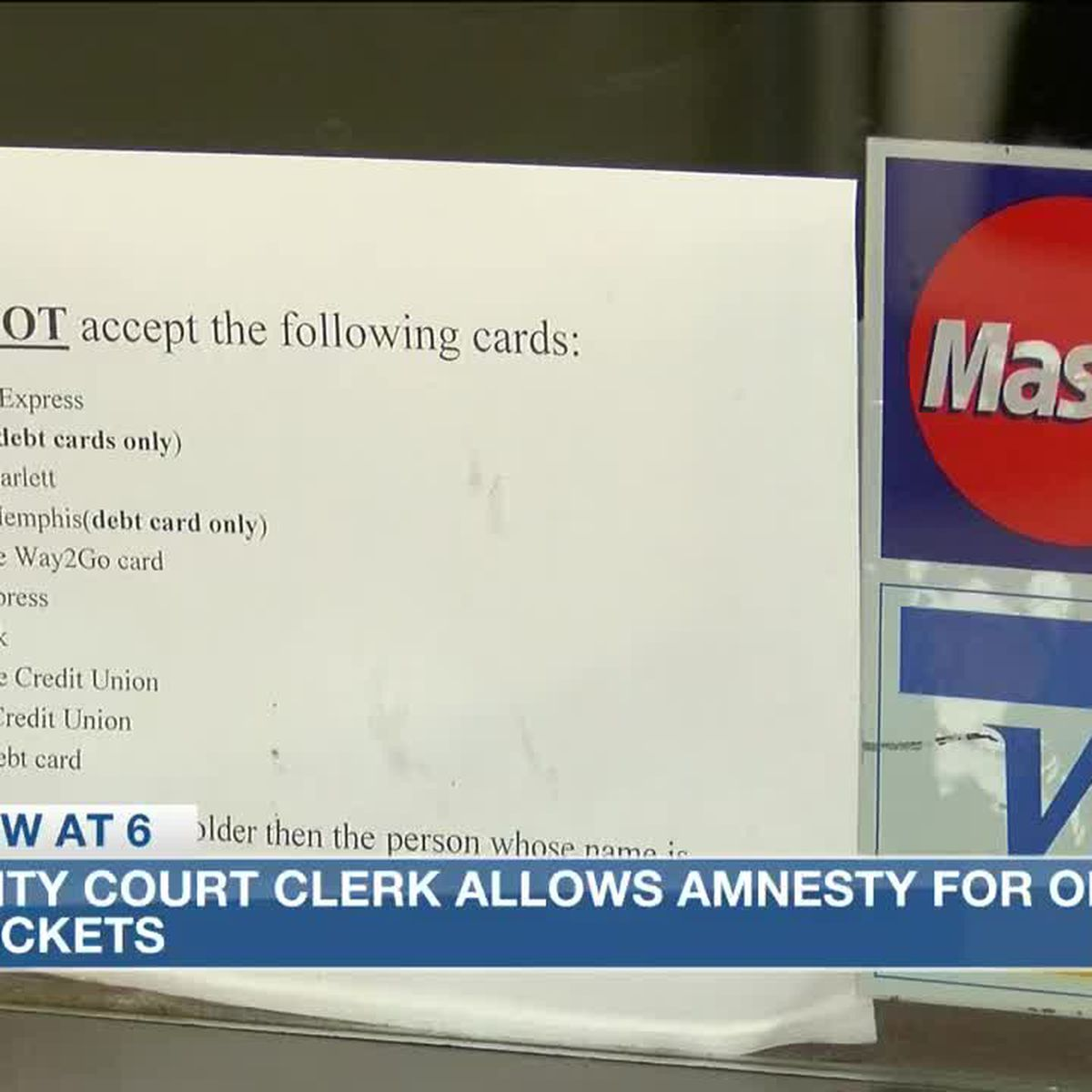 City Court Clerk allows amnesty for outstanding tickets