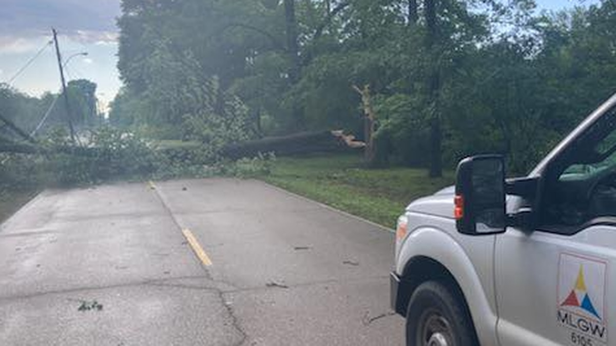 Storms in the Mid-South cause power outages and downed trees
