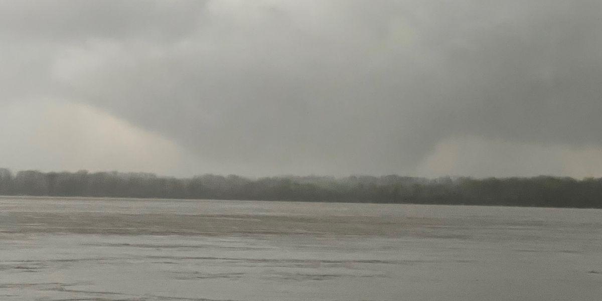PHOTOS: Funnel clouds spotted near Osceola, Arkansas